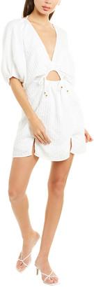 SUBOO Balloon Sleeve Mini Dress