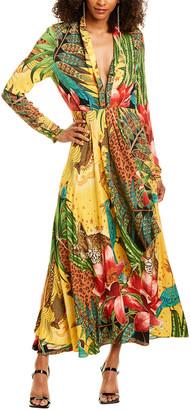 Farm Rio Tropical Dreams V-Neck Maxi Dress