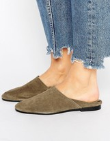 Pull&Bear Suede Collapsible Back Shoe