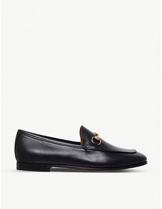 Gucci Women's Black Jordaan Leather Loafers, Size: EUR 35 / 2 UK WOMEN