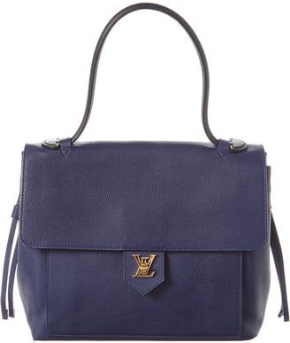 Louis Vuitton Blue Leather Lockme Pm
