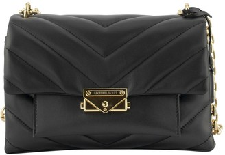 Michael Kors Cece Medium Quilted Leather Shoulder Bag Black