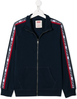 Levi's Kids TEEN zipped side stripe jacket