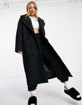 UGG Hattie long oversized coat in black