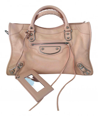 Balenciaga Classic Metalic Pink Leather Handbags