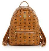 MCM Stark Sprinkle Stud Small Coated-Canvas Backpack