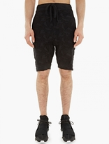 Thom Krom Black Distressed Loopback Shorts
