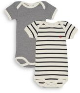 Petit Bateau Baby's Two-Piece Striped Short Sleeve Bodysuit Sets