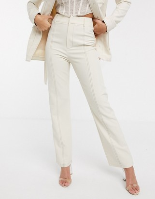 4th + Reckless suit pants with contrast stiching in cream