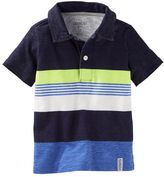 Osh Kosh Toddler Boy Engineered Stripe Jersey Polo Shirt
