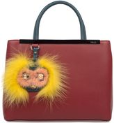 Fendi Ribes/peacock Petite 2jours Leather Top Handle Bag