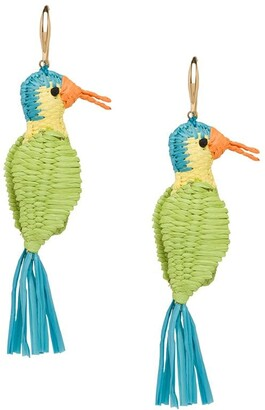 Prada Bird Motif Earrings