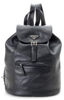 Prada Vintage Leather Bucket Backpack