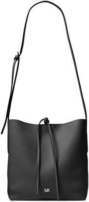 Michael Kors Large Junie Pebbled Leather Messenger Bag