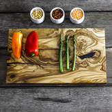 The Rustic Dish Natural Wooden Serving Or Chopping Board