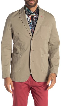 Robert Graham Cape South Notch Collar Triple Button Tailored Fit Sportcoat