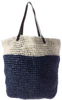 By Malene Birger Leather-Trimmed Straw Tote w/ Tags