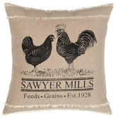 Vhc Brands Sawyer Mill Charcoal Poultry Pillow 18x18
