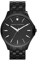 Armani Exchange Diamond and Black-Plated Stainless Steel Bracelet Watch