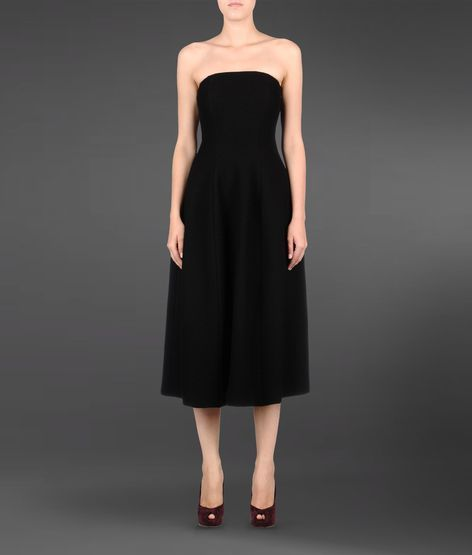 Emporio Armani Sixties Style Dress In Boiled Wool