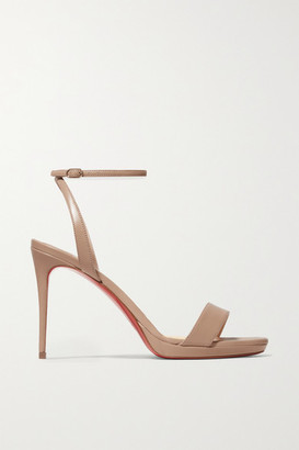Christian Louboutin Loubi Queen 100 Leather Sandals - Beige