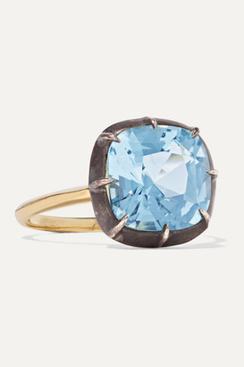 Fred Leighton Collection 18-karat Gold And Sterling Silver Topaz Ring