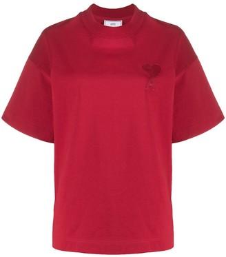 AMI Paris Ami de Coeur embroidered T-shirt