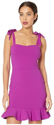 Susana Monaco Tie Strap Ruffle Hem Dress (Byzantine) Women's Dress