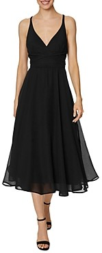Laundry by Shelli Segal Strappy Chiffon Midi Dress