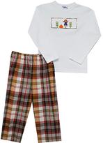 Brown Plaid Harvest Smocked Tee & Pants - Infant & Boys