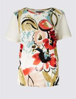 Marks and Spencer PETITE Floral Print Short Sleeve T-Shirt