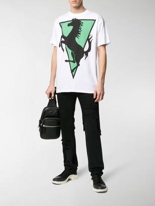 Raf Simons horse-print cotton T-shirt