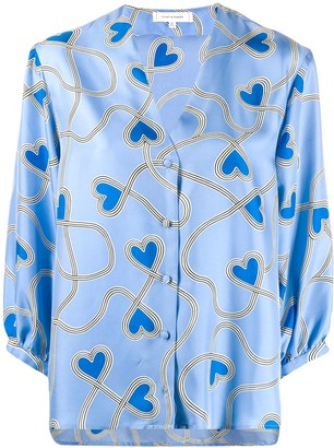 Chinti and Parker Heart Print Blouse