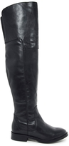 Bronx Over the Knee Flat Cuff Boots - Black