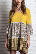 Umgee USA Multiprint Peasant Dress