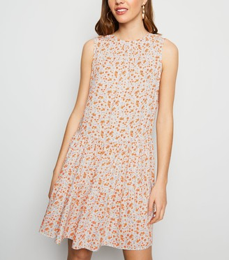 New Look Floral Tiered Smock Dress