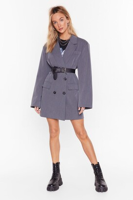 Nasty Gal Womens Back in Business Oversized Blazer Dress - grey - 8