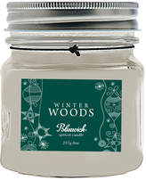 Bluewick Home Fragrance Holiday Mini Mason Jar Winter Woods Candle (8 OZ)
