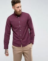 Lee Slim Fit Check Shirt Button Down One Pocket
