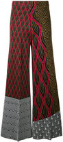 Circus Hotel patterned flared trousers - women - Polyester/Viscose - 40