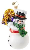 Christopher Radko Shaking Things Up Snowman Ornament