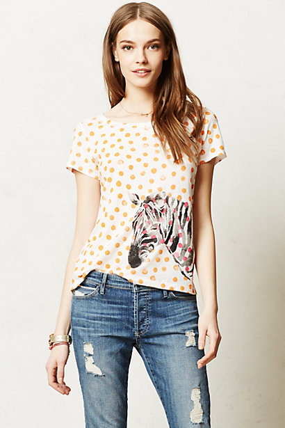 Anthropologie Watercolor Chatty Tee