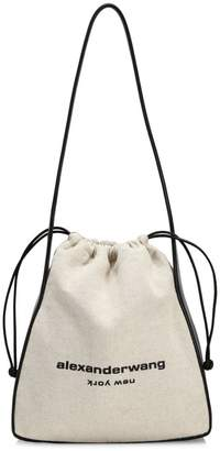 Alexander Wang Ryan Leather-Trimmed Canvas Dust Bag