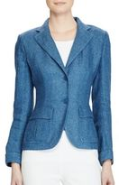 Lauren Ralph Lauren 2-Button Slim-Fit Linen Blazer