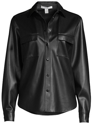 HUGO BOSS Balady Vegan Leather Utility Shirt
