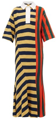 Loewe Striped Cotton Rugby Shirtdress - Womens - Red Multi