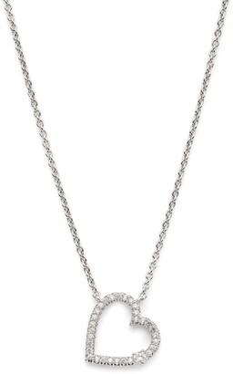 AJOA Pave Open Heart Pendant Necklace