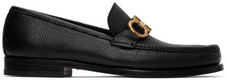 Salvatore Ferragamo Black Rolo 10 Loafers