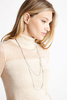 BCBGeneration Layered Necklace - Silver