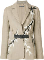 Alberta Ferretti painted fitted blazer